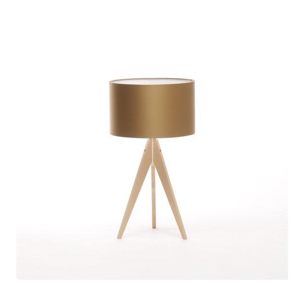 Zlatá stolová lampa Artist, breza, Ø33 cm