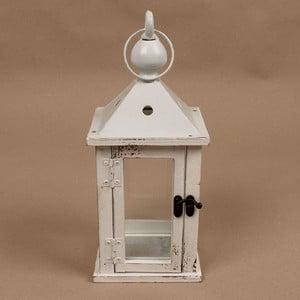 Drevený lampáš White Orient