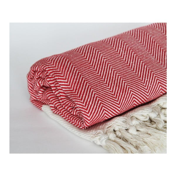Peshtamal Chevron Red, 95x175 cm