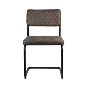 Béžovosivá jedálenská stolička LABEL51 Bow