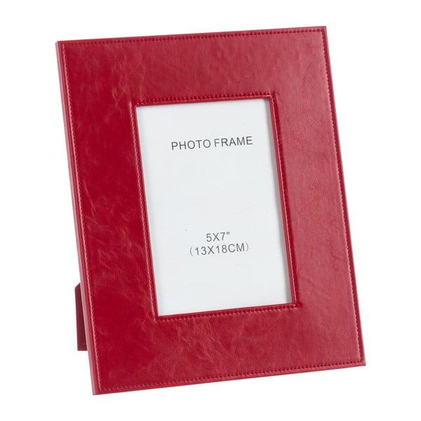 Koženkový fotorámik Red, 19x24 cm