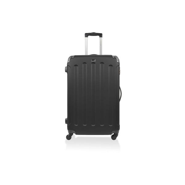 Sada 3 čiernych cestovných kufrov nakolieskach Bluestar Thompson