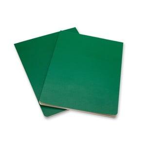 Sada 2 zelených blokov Moleskine Volant