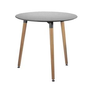 Sivý jedálenský stôl Leitmotiv Elementary, ø 75 cm