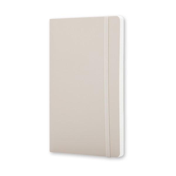 Malý béžový zápisník Moleskine Soft, bezlinajok