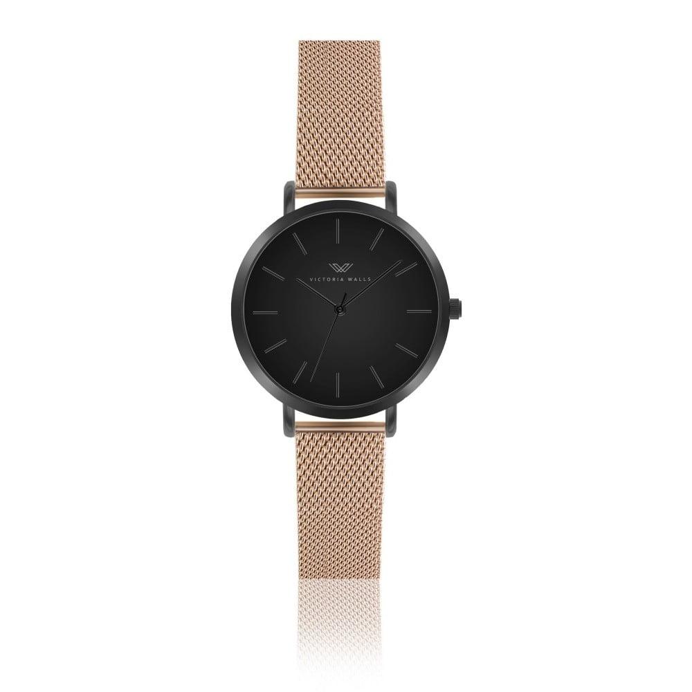 27894efb2 Dámske hodinky s remienkom v zlatej farbe z chirurgickej ocele Victoria  Walls Duro