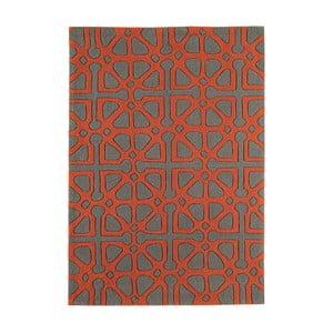 Červeno-sivý koberec Asiatic Carpets Harlequin Floorist, 170 x 120 cm