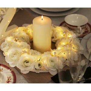 Svadobný veniec s LED svetielkami Rose Pearl