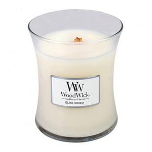 Vonná sviečka WoodWick Kokos, 60hodín horenia