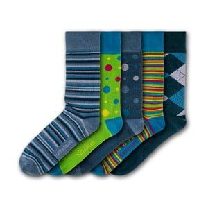 Sada 5 párov ponožiek Black&Parker London Compton Acres, veľ.37 - 43