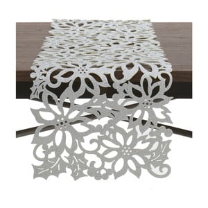 Behúň na stôl  v striebornej farbe InArt XMas