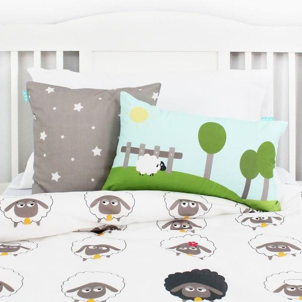 Bavlnená obojstranná obliečka na vankúš Baleno Little Sheep, 50 x 30 cm