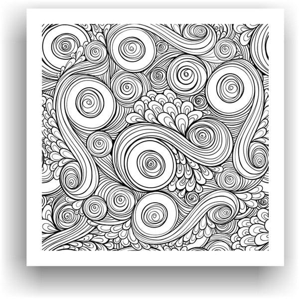 Obraz na vymaľovanie Color It no. 51, 50x50 cm