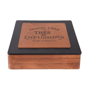 Drevený úložný box na čaj Clayre & Eef Hermesso Grande