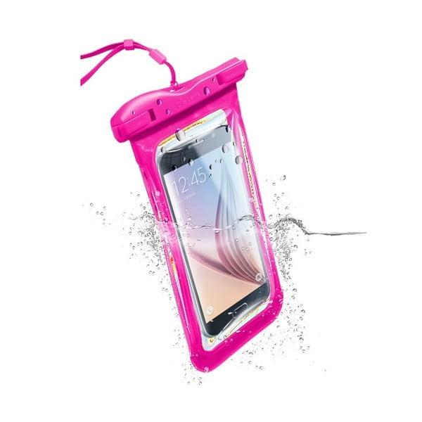 Vodoodolné univerzálne puzdro Cellularline VOYAGER, ružové