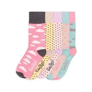 Sada 5 párov farebných ponožiek Funky Steps Beautiful Day, veľ. 35-39
