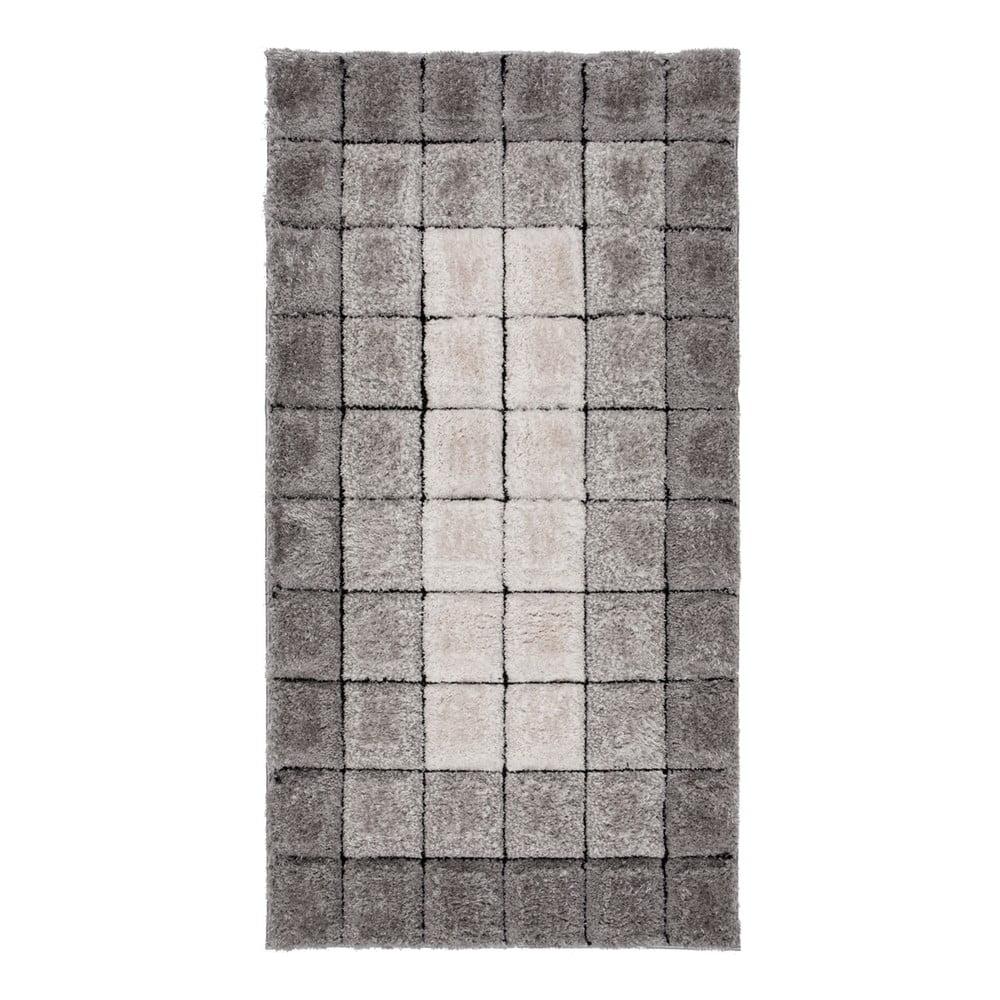 Koberec Flair Rugs Velvet 3D Cube Grey, 120 × 170 cm