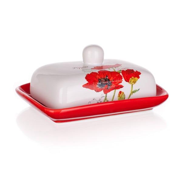 Keramická nádoba na maslo Banquet Red Poppy