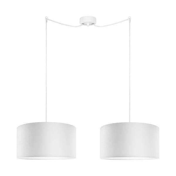 Biele dvojité závesné svietidlo Bulb Attack Tres, ⌀ 36 cm