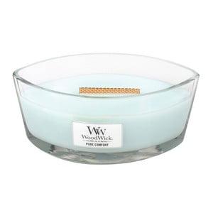 Sviečka s vôňou čistej bielizne, citrusov a pižma Woodwick Čisté pohodlie, doba horenia 80 hodín
