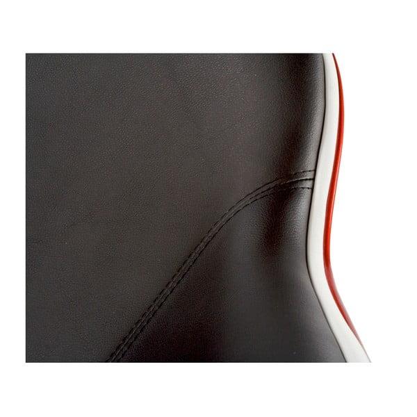 Čierno-červené otočné kreslo Kokoon Daytona