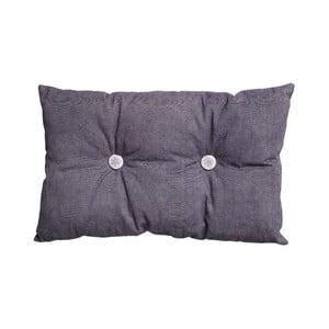 Vankúš s výplňou Button 65x40 cm, fialový