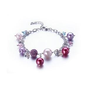 Náramok s ružovými krištáľmi Swarovski Elements Crystals Pinky