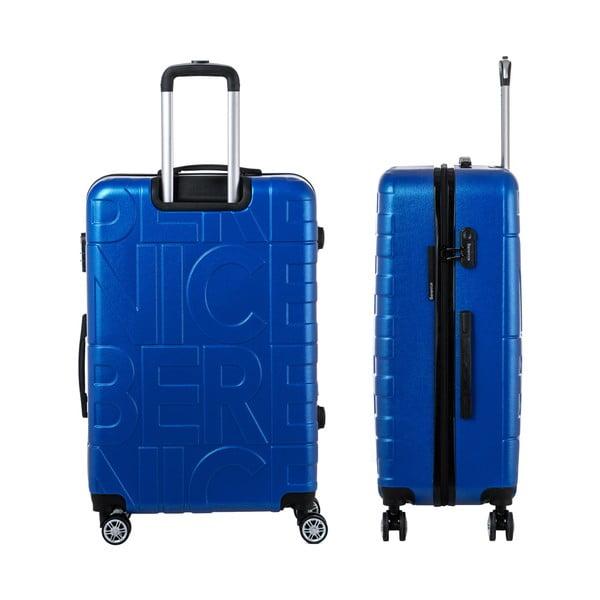 Modrý cestovný kufor Berenice Typo, 107 l