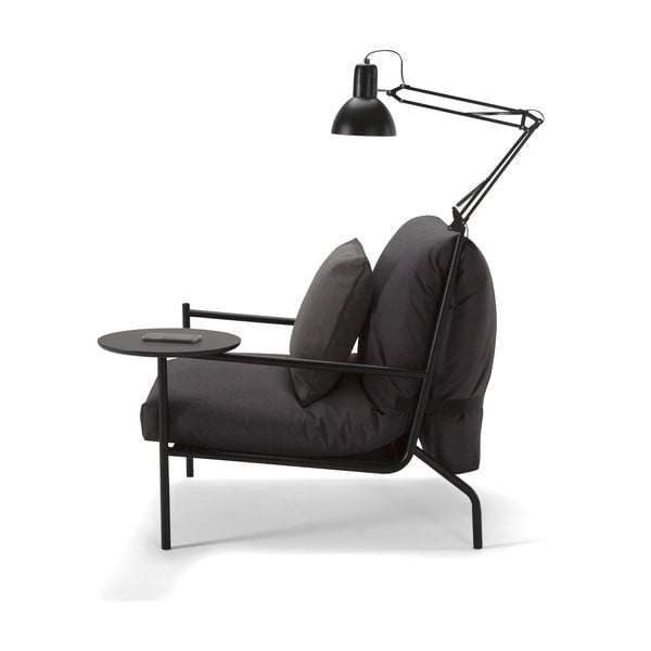 Tmavosivé kreslo Innovation Noir Chair