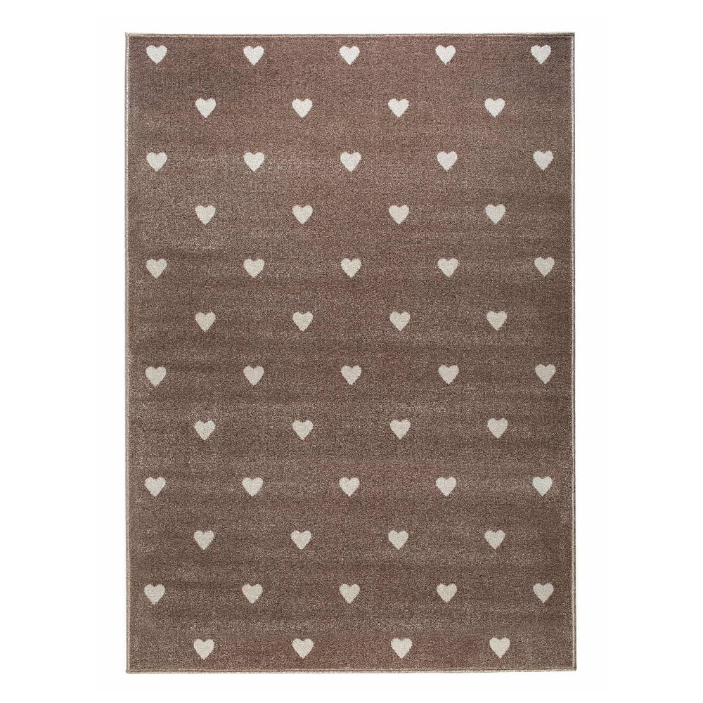 Hnedý koberec s bodkami KICOTI Beige Dots, 300 × 400 cm
