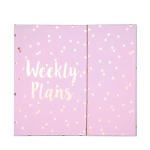 Vreckový týždenný plánovač Tri-Coastal Design Weekly Plans