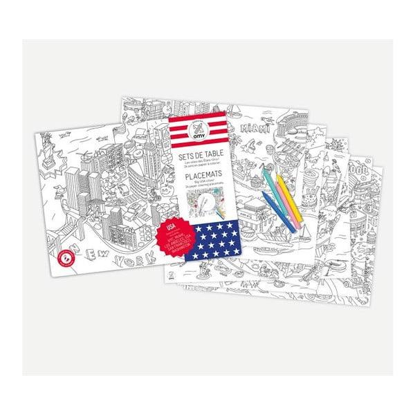 Prestieranie vo forme maľovanky OMY United States, 24 ks