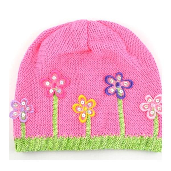 Dievčenská čapica Lacka, tmavoružová