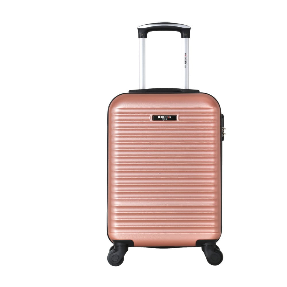 Ružový cestovný kufor na kolieskach Bluestar Mirassa, 31 l