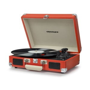 Červený gramofón Crosley Cruiser Deluxe