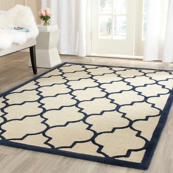 Vlnený koberec Everly Navy, 121x182 cm