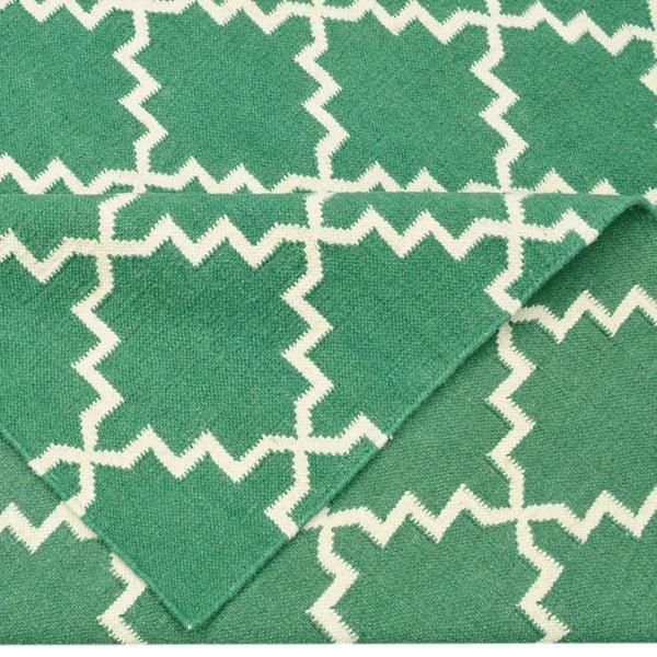 Vlnený koberec Eugenie Green, 200x140 cm