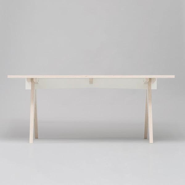 Jedálenský/pracovný stôl ST, dĺžka 180 cm, biely