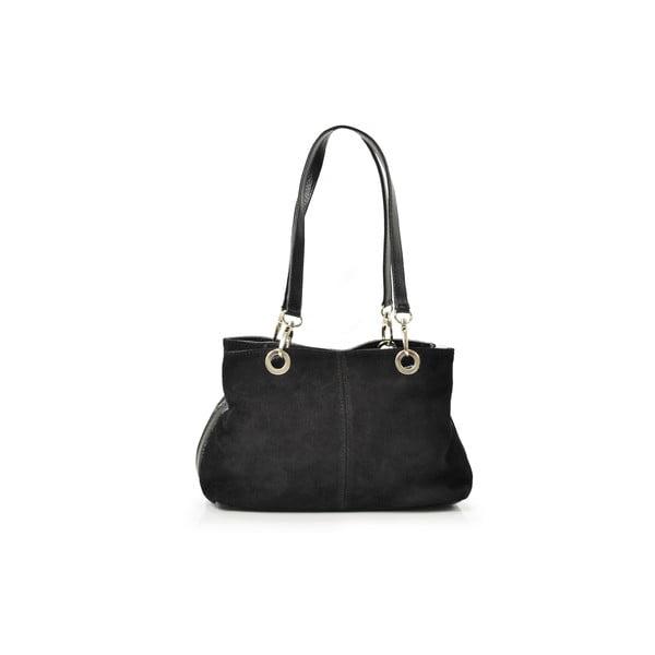 Kožená kabelka Giselle, čierna