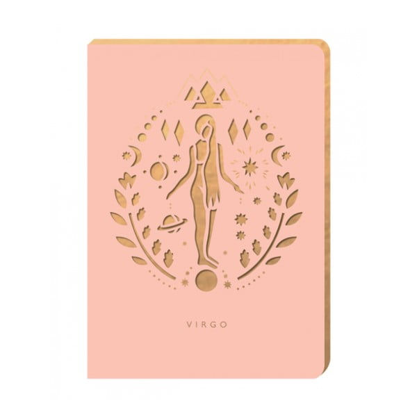 Linajkový zápisník Portico Designs Panna, 124 stránok