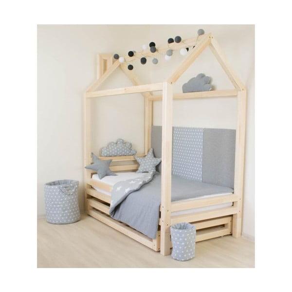 Detská ružová posteľ zo smrekového dreva Benlemi Happy, 80 × 160 cm