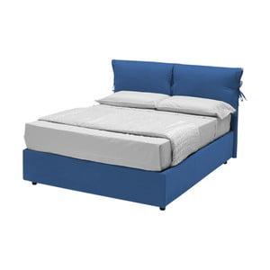 Modrá jednolôžková posteľ s úložným priestorom a 13Casa Iris, 120 x 190 cm
