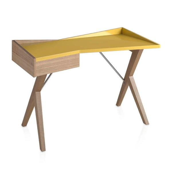 Dubový pracovný stôl Ángel Cerdá Yellow