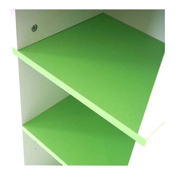 Kupeľňová skrinka Sonoma White/Green, 31,5x179 cm