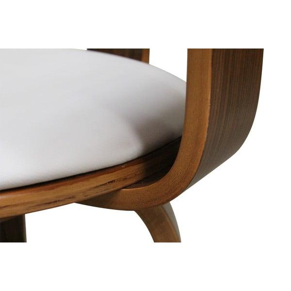 Otočná stolička Suedoise Blanche