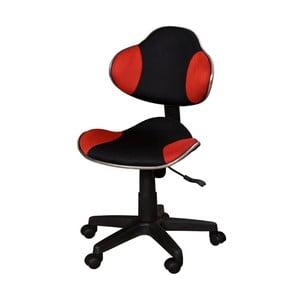 Červeno-čierna kancelárska stolička SOB Office