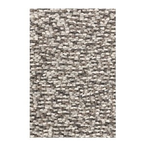 Vlnený koberec Crush Grey, 140x200 cm