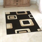 Čierny koberec Think Rugs Diamond, 60x115cm