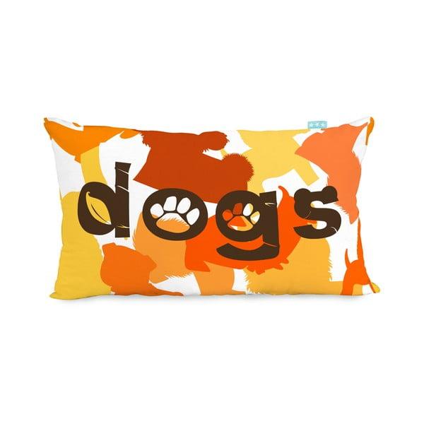 Obojstranná bavlnená obliečka na vankúš Mr. Fox Dogs 50 x 30 cm