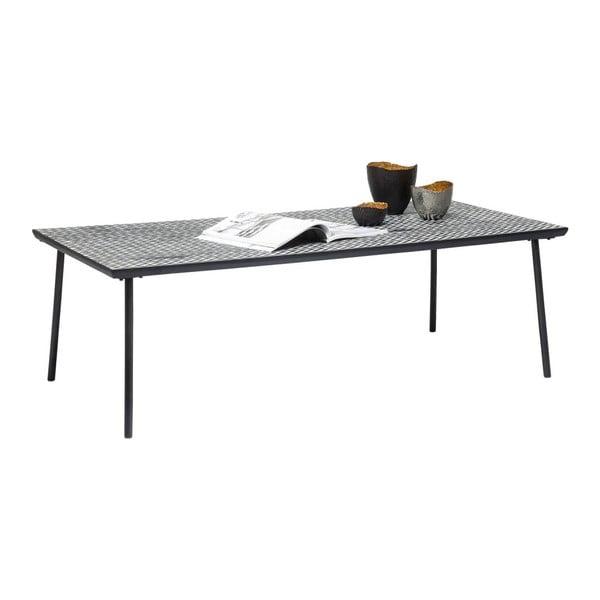 Čierno-biely konferenčný stolík Kare Design Thekla